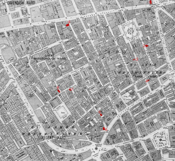 Map Soho London.Looking At Buildings Soho A Pub Crawl